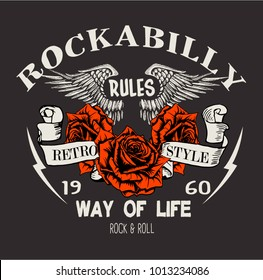 vector rockabilly illustration