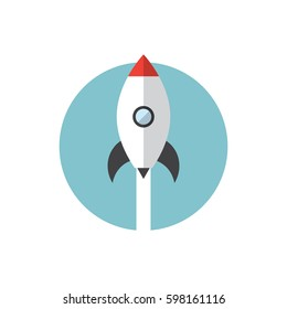Vector rocket icon. Start up icon