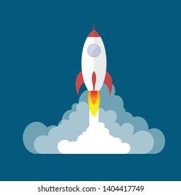 Vector Rocket Image, Spaceship, rocket lunch