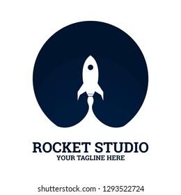 Vector Rocket Logo