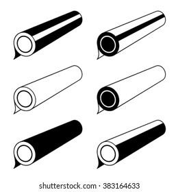 vector roll of any foil black symbols