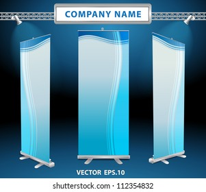Vector roll up banner display