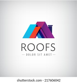 vector roofs, house icon, logo isolated