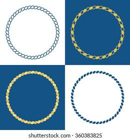 Vector rope frame, flat design