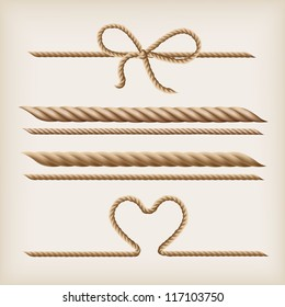 vector Ropes and rope bow