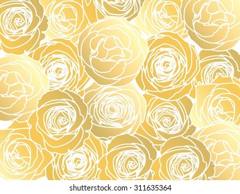 Vector rose background colors and text