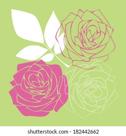 vector rose flowers background