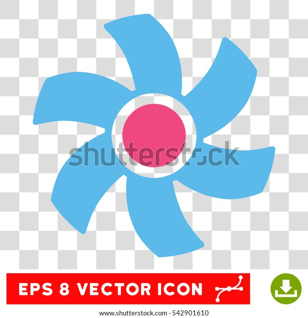 Vector Rotor EPS vector pictogram. Illustration style is flat iconic bicolor pink and blue symbol on a transparent background.
