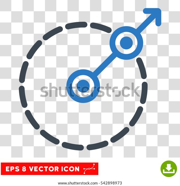 Vector Round Area Exit EPS vector pictograph. Illustration style is flat iconic bicolor smooth blue symbol on a transparent background.