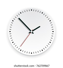 vector round background illustration of a wall clock face with no numbers. time watch icon graphic design, showing about 2 o'clock. eps10