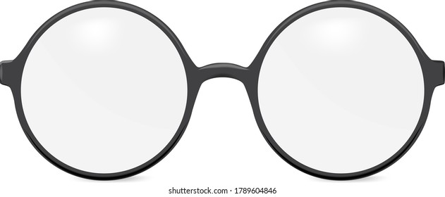 Vector round glasses - isolated on white background