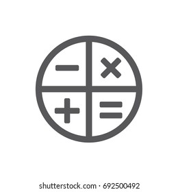 Business square math calculator app icon stock vector (royalty.