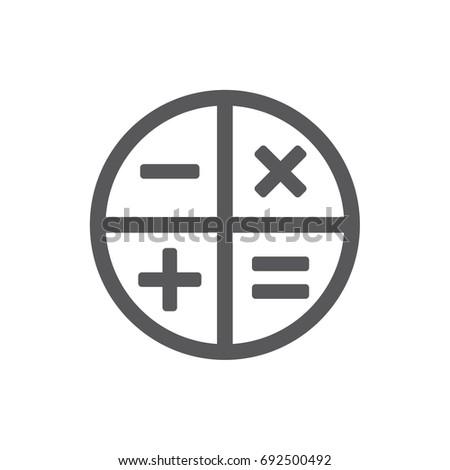 Vector round math calculator app icon stock vector (royalty free.