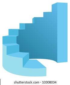 vector round stair