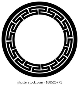 vector of round traditional decorative frame of China