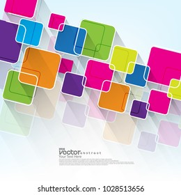 Vector Rounded Squares Design/Layout Background