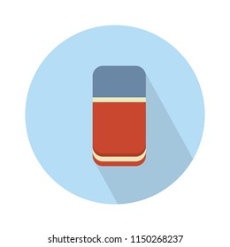 vector rubber eraser illustration isolated. education and school flat icon