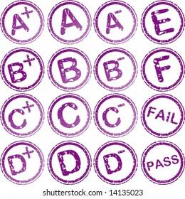 vector. rubber stamp for school grades