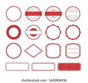 Vector rubber stamp template illustration set (no text/ text space)