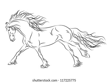 Friesian horse printing pictures coloring pages ~ Friesian Horse Images, Stock Photos & Vectors | Shutterstock