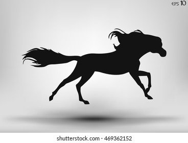 Vector running horse isolated on a white background