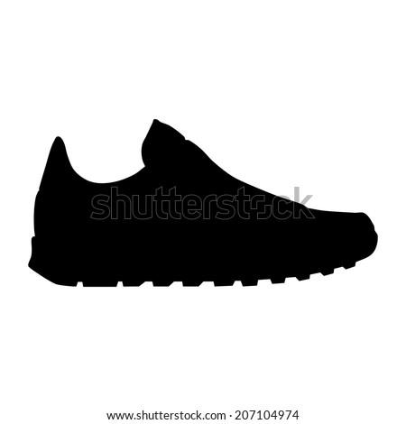 Vector Running Shoe Sneaker Silhouette Stock Vector (Royalty Free ... 82bceb11b