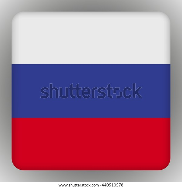 Vector - Russia Flag Smartphone Application Square Buttons.