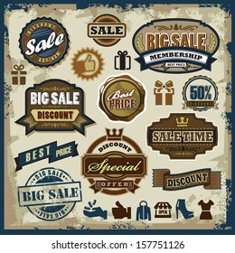 vector sale labels set, badges and icons