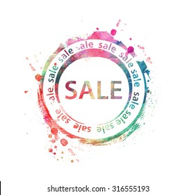 Vector Sale Rubber Stamp Design.
