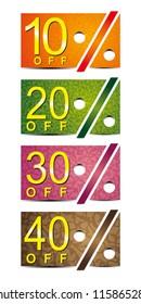 Vector sale stickers set.