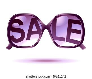 vector sale sunglasses icon