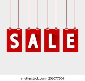 Vector sale tags for multiple uses