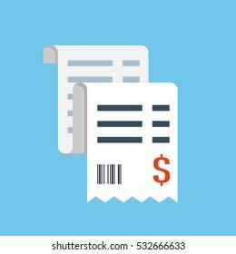 Vector sales receipt