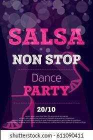 vector salsa poster