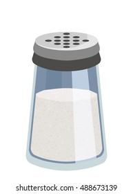 Vector salt shaker kitchen equipment eps 10  illustration