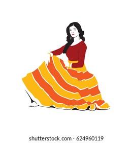 Vector Salwar Kameez Churidar Ladies fashion dress indian style