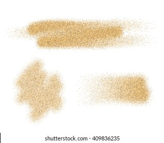 Vector sand stains isolated on white background.