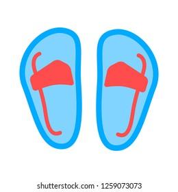 vector sandal illustration