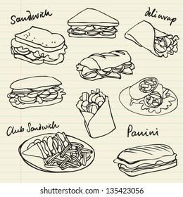 Vector sandwich doodle