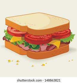 Vector Sandwich illustration