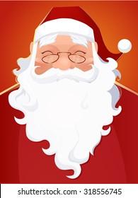 Vector Santa Claus Portrait