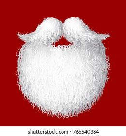 Vector Santa's beard. Eps8. RGB Global colors