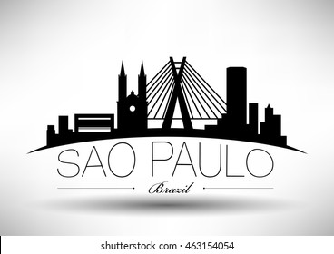 Vector Sao Paulo City Skyline Design