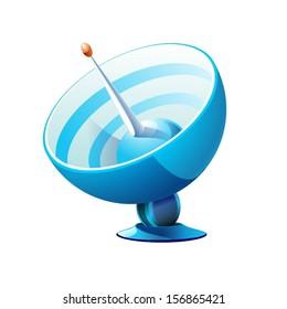 vector satellite icon