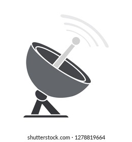 vector satellite icon-radar symbol-antenna illustration-telecommunication isolated-network symbol-receiver sign