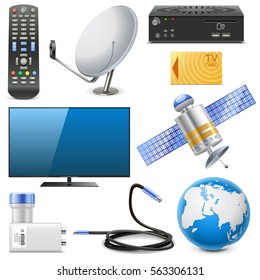 Vector Satellite Television Icons