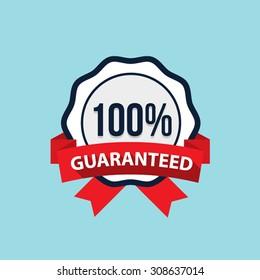 Vector satisfaction guaranteed badge