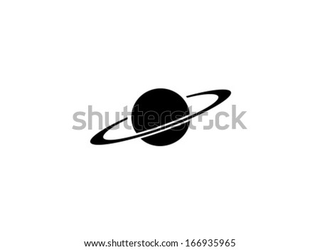Vector Saturn Icon Symbol Set Stock Vector Royalty Free 166935965