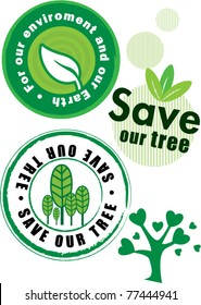 Vector Save Our Tree Label