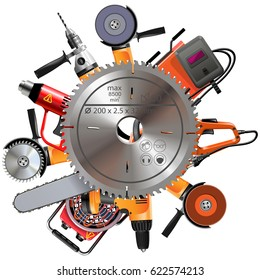 Vector Saw with Power Tools